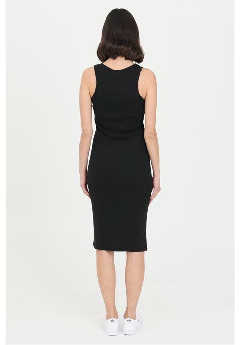 Black dress in ribbed fabric. Slim fit. Kontatto KONTATTO | Dress | M161901