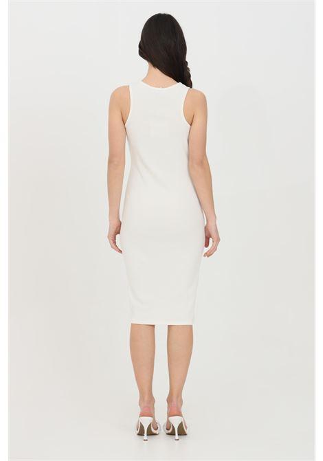 Cream dress in ribbed fabric. Slim fit. Kontatto KONTATTO | Dress | M1619150