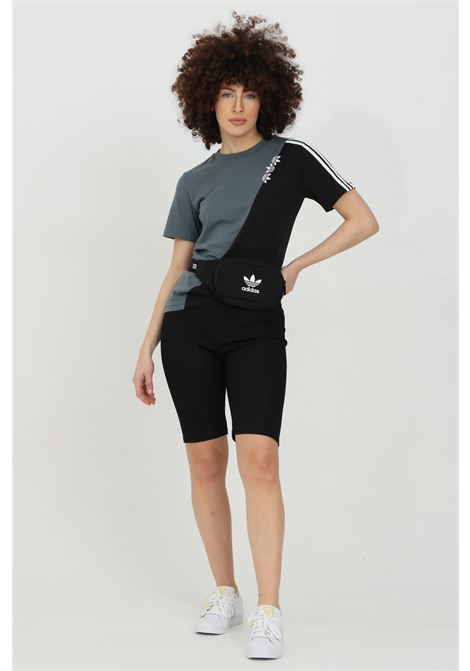 Black shorts in ribbed fabric with spring at the waist. Slim fit. Kontatto KONTATTO | Shorts | M9048NERO