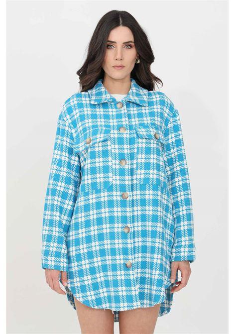 Camicia donna celeste-bianco kontatto casual KONTATTO | Camicie | MU3004V1