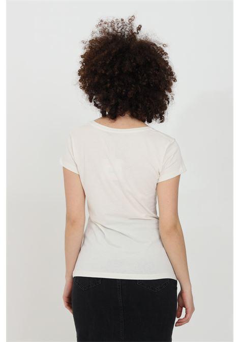 White t-shirt with V-neck. Comfortable model. Kontatto KONTATTO | T-shirt | SDK103OFF.WHITE