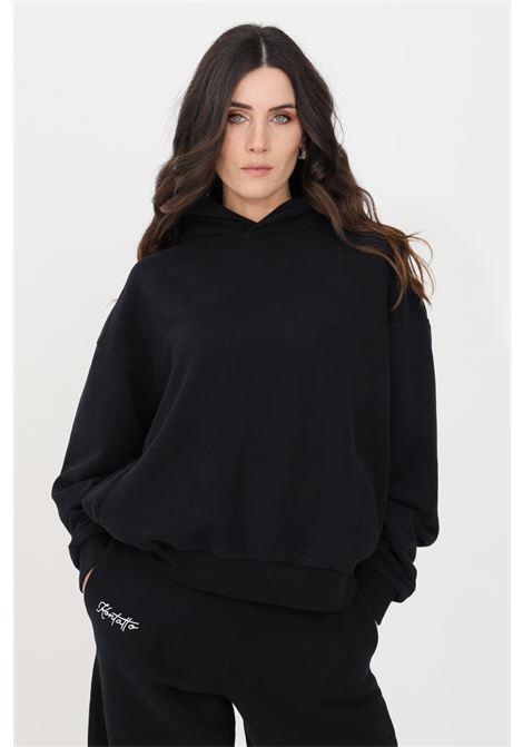 Felpa donna nero kontatto con cappuccio KONTATTO | Felpe | SDK20101