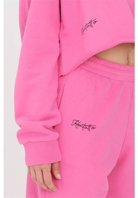 Fuchsia crew neck sweatshirt kontatto KONTATTO | Sweatshirt | SDK20285