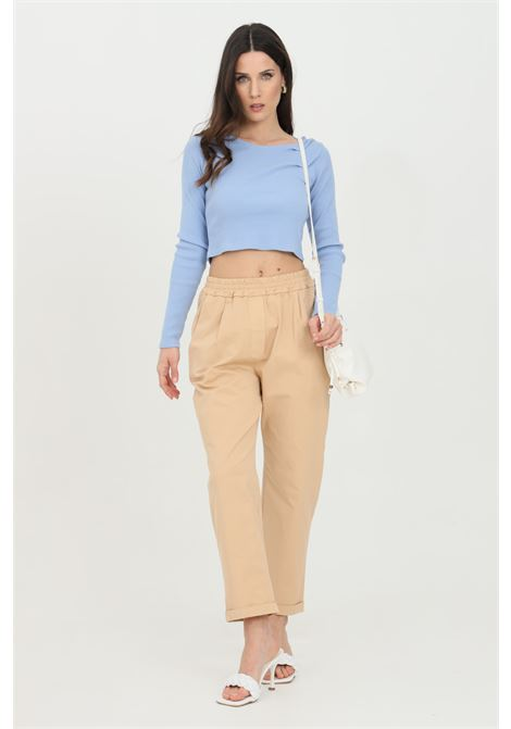 Sand trousers with elastic waistband and lapel at the bottom. Balloon model with side pockets. Kontatto KONTATTO | Pants | TT101V2
