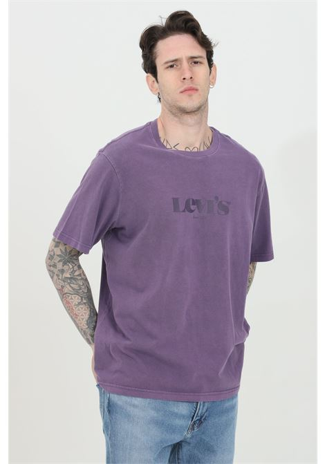 Purple t-shirt with tone on tone logo, basic model with short sleeves. Relax fit. Levi's LEVI'S | T-shirt | 16143-01040104