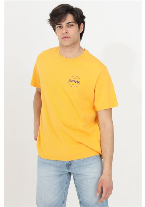 Orange t-shirt with front logo print, basic model with short sleeves. Levi's LEVI'S | T-shirt | 16143-01070107