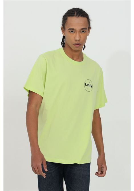 Lime t-shirt with front logo print, basic model with short sleeves. Levi's LEVI'S | T-shirt | 16143-01210121