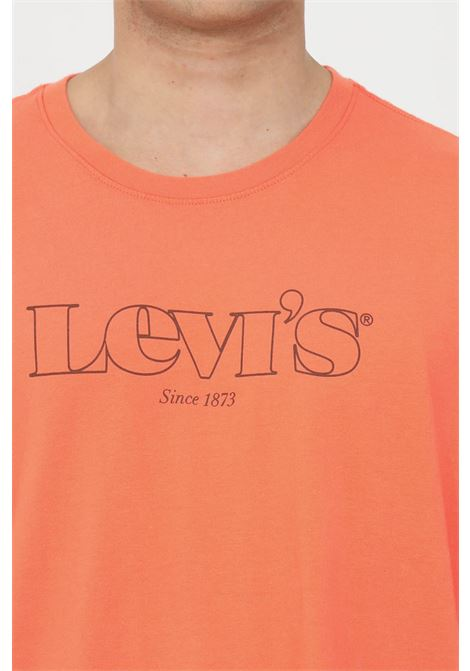 Coral t-shirt with front logo, short sleeve. Over size model. Levi's LEVI'S | T-shirt | 16143-01830183