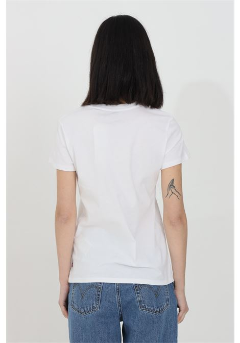 White t-shirt with front print, basic model with short sleeves. Levi's LEVI'S   T-shirt   17369-12511251