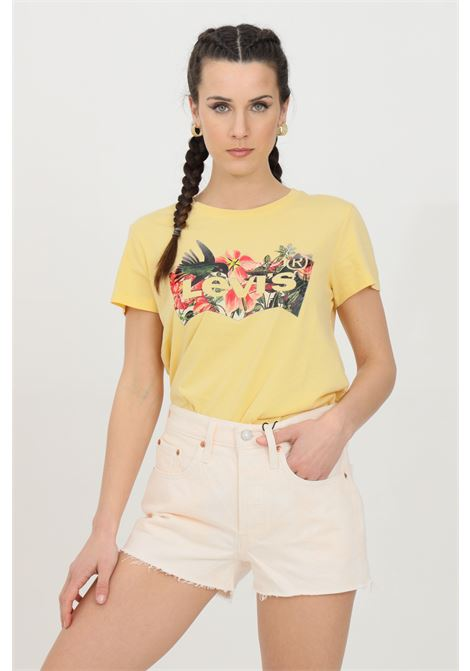 Orange t-shirt with front summer print, short sleeve. Comfortable model. Levi's LEVI'S | T-shirt | 17369-12641264