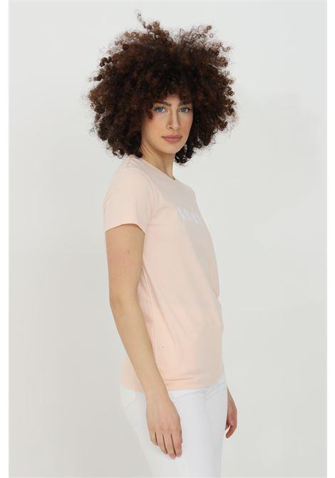 T-shirt donna rosa levi's a manica corta con logo frontale. Modello over LEVI'S | T-shirt | 17369-127701270