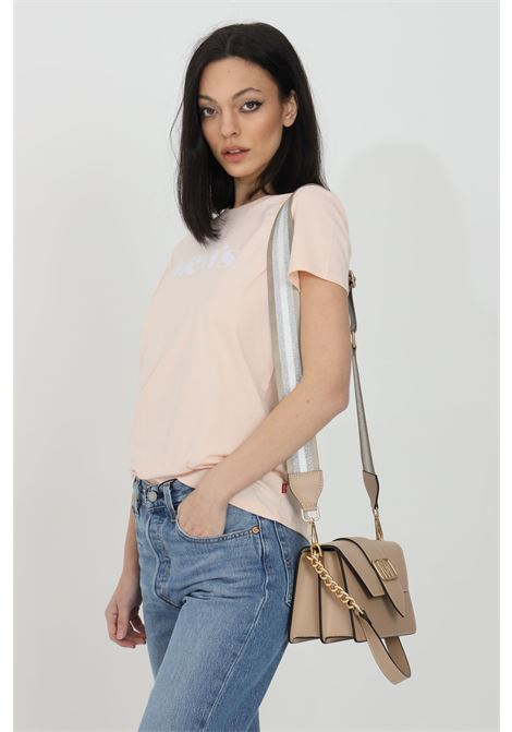 Pink t-shirt with front logo, comfortable model. Short sleeve. Levi's LEVI'S   T-shirt   17369-12771277