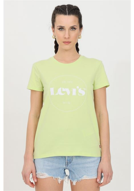Lime t-shirt with front print, short sleeve. Comfortable model. Levi's LEVI'S | T-shirt | 17369-12961296