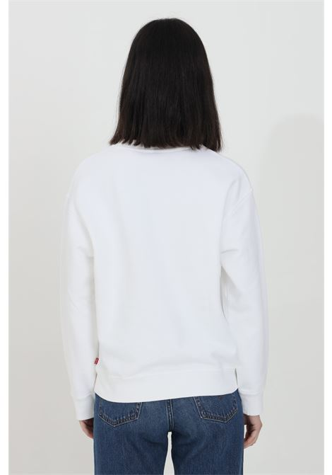 White sweatshirt with front print, basic model with elastic cuffs and bottom with ribs. Comfortable model. Levi's  LEVI'S   Sweatshirt   18686-00040004