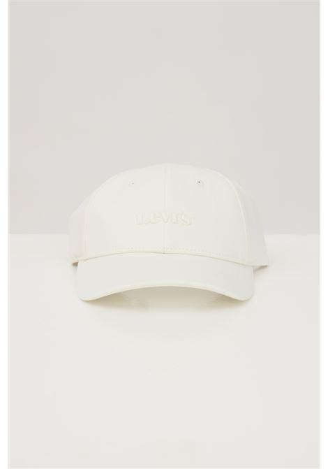 White cap with tone on tone logo. Levi's LEVI'S | Hat | 233056-00006051