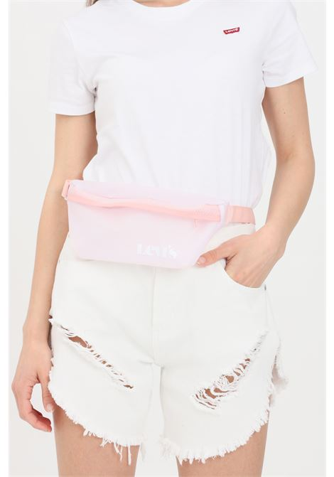 Pink pouch with transparencies and contrasting logo. Levi's LEVI'S | Pouch | 233131-00078081
