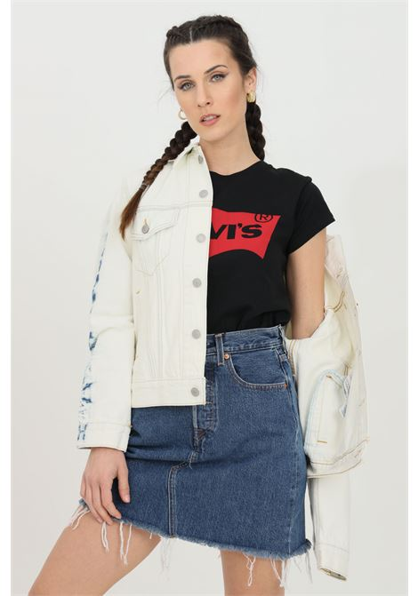 Giubbotto donna azzurro levi's giacca in denim di jeans trucker oversize. Chiusura con bottoni LEVI'S | Giubbotti | 29944-01470147