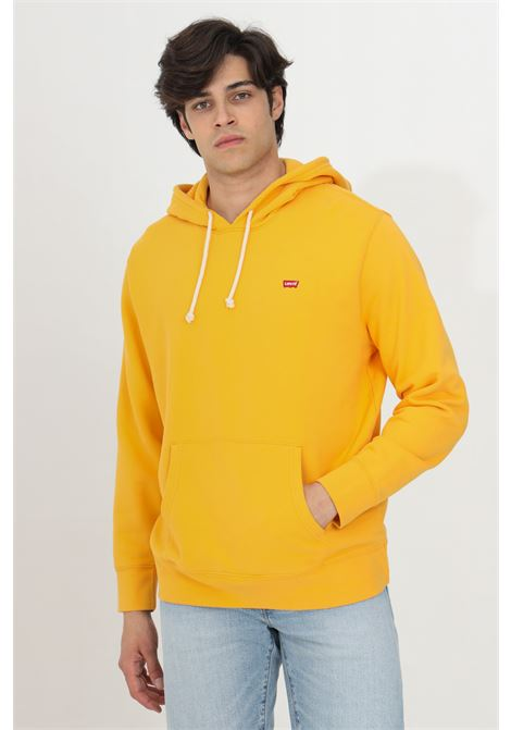 Orange new original hoodie with laces, small logo in contrast. Elastic cuffs and bottom with ribs. Levi's LEVI'S | Sweatshirt | 34581-00080008