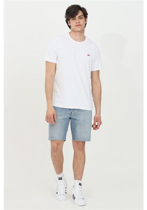 Shorts uomo azzurro levi's casual a vita media con lavaggio leggero. Modello stretch 5 tasche LEVI'S | Shorts | 36512-01020102