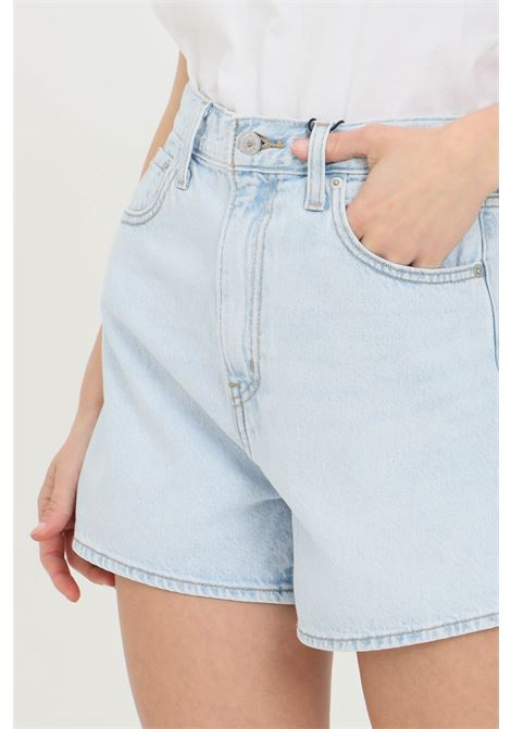 Denim original shorts with high waist. Slim model with belt loops, closure with zip and buttons. Levi's LEVI'S | Shorts | 39451-00010001