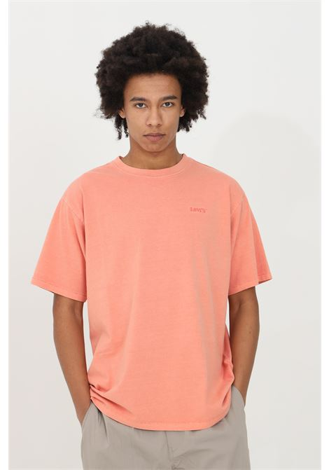 Pink t-shirt in solid color with small logo in contrast, short sleeve. Comfortable model. Levi's LEVI'S | T-shirt | 39856-00120012