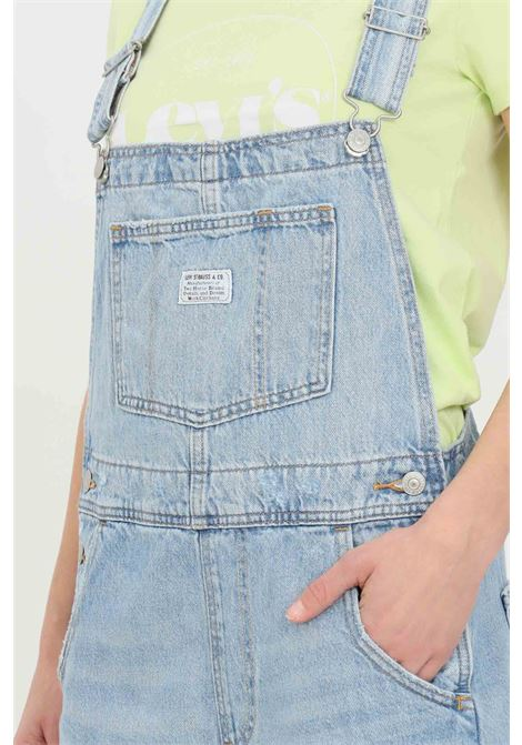 Bleached wash denim short overalls LEVI'S | Suit | 52333-00190019