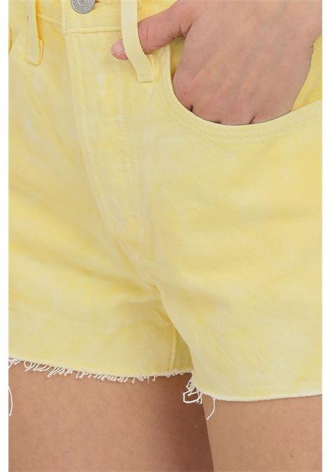 Shorts 501 original in denim arancio levi's casual con fondo taglio a vivo. Modello a vita alta con chiusura bottoni LEVI'S | Shorts | 56327-01970197