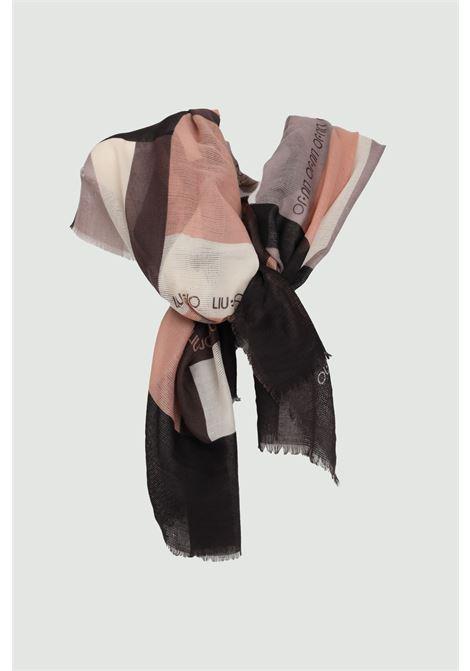 Blue stole in fabric. Brand Liu Jo. Soft and comfortable printed model LIU JO | Scarf | 2A1091T030022222
