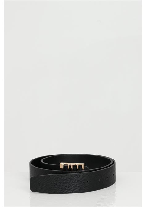 Solid color belt with buckle with gold plate.  LIU JO | Belt | AA1123E001722222