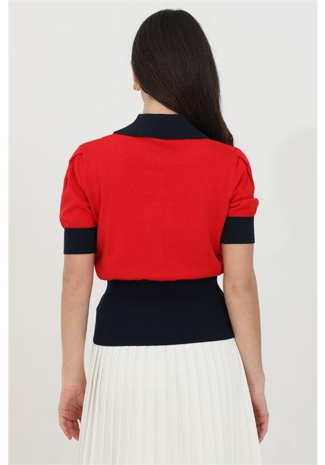 Knitted t-shirt with logo LIU JO | Knitwear | MA1068MA32LB3898