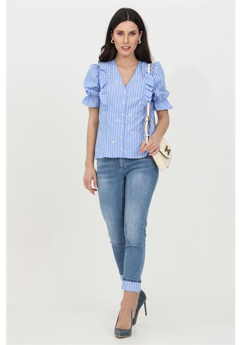 Jeans a vita alta con risvolto e taglio corto LIU JO | Jeans | UA1006D450378171