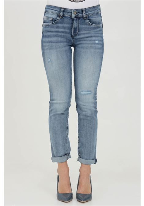 High waist jeans with lapel on the bottom LIU JO | Jeans | UA1006D459278146