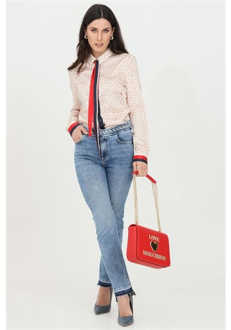Liu jo denim jeans with fringed bottom LIU JO | Jeans | UA1128D459278196