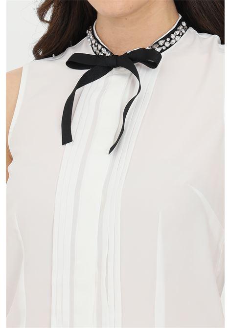 Camicia Liu Jo con fiocco e strass LIU JO | Camicie | WA1014T912110701
