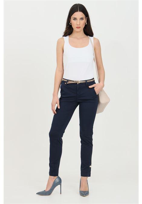 Pantalone chino con cintura in vita LIU JO | Pantaloni | WA1091T925793923