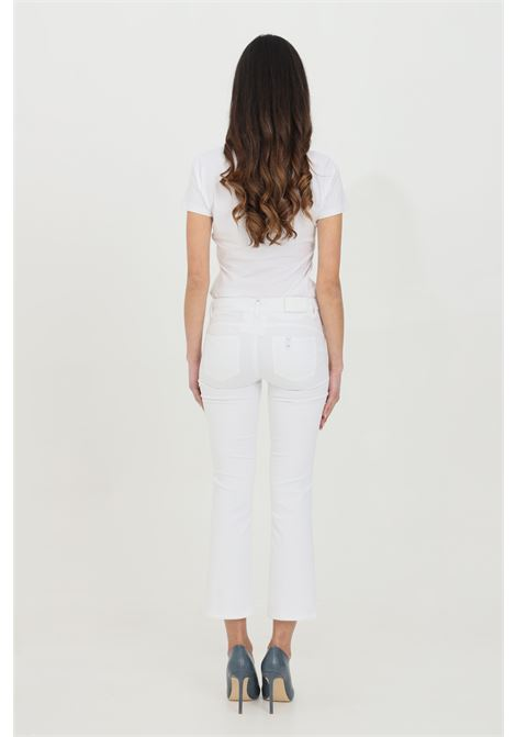 Pantalone crop leggermente svasato a vita media LIU JO | Pantaloni | WA1113T714411111