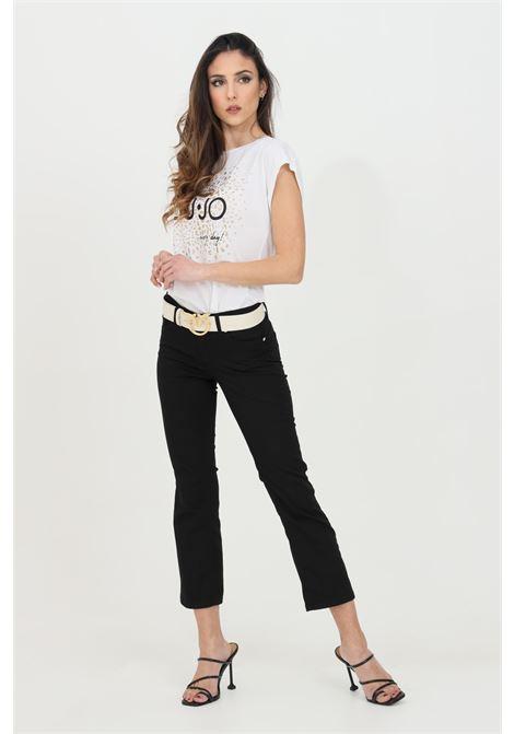Pantaloni crop svasati con vita media LIU JO | Pantaloni | WA1113T714422222