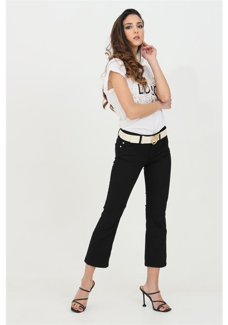 Flared crop trousers with medium waist LIU JO | Pants | WA1113T714422222