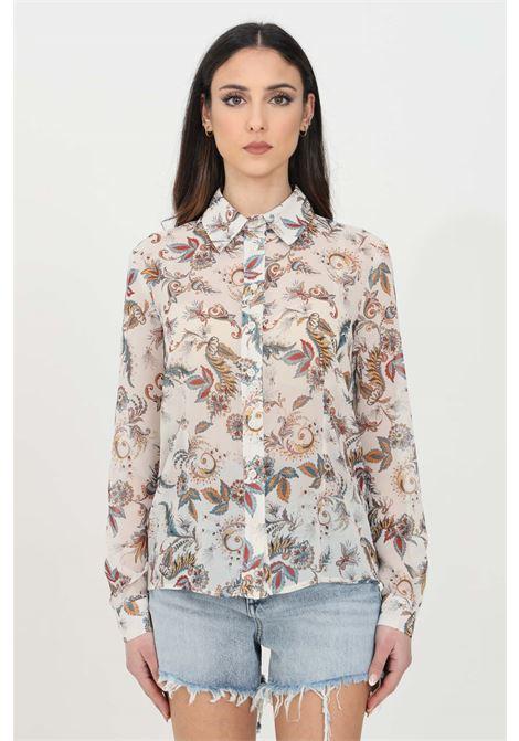 Camicia donna multicolor liu jo in georgette stampata LIU JO | Camicie | WA1160T4842T9688