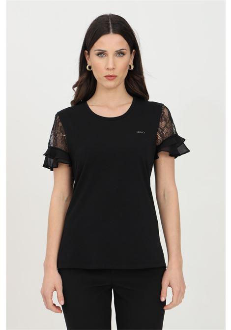 T-shirt in tessuto stretch di cotone LIU JO | T-shirt | WA1316J500322222