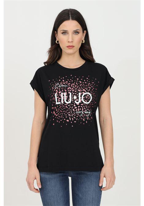 T-shirt a maniche corte filati in puro cotone. LIU JO | T-shirt | WA1327J009422222