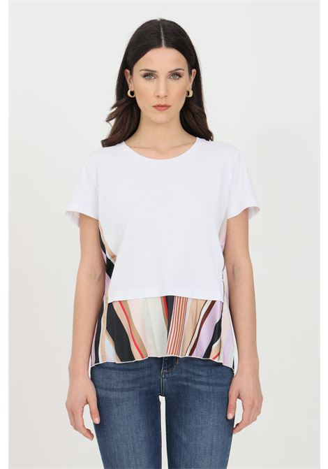 T-shirt over with double fabric and flared bottom   LIU JO | T-shirt | WA1466J5972T9743