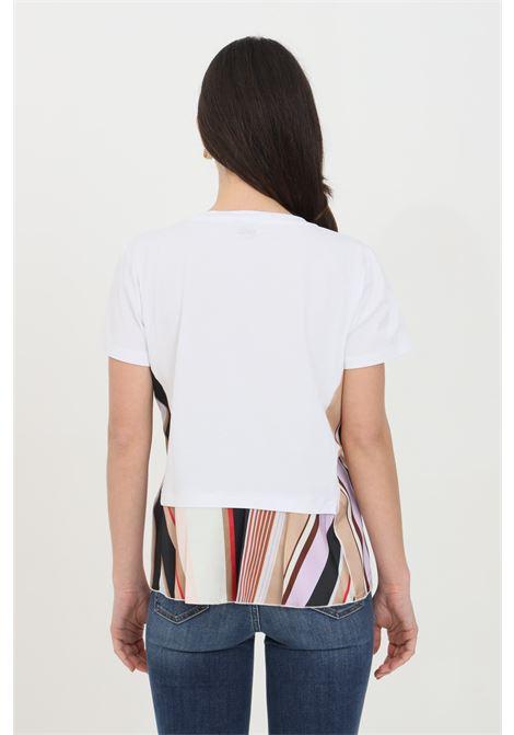 T-shirt over con doppio tessuto e fondo svasato LIU JO | T-shirt | WA1466J5972T9743