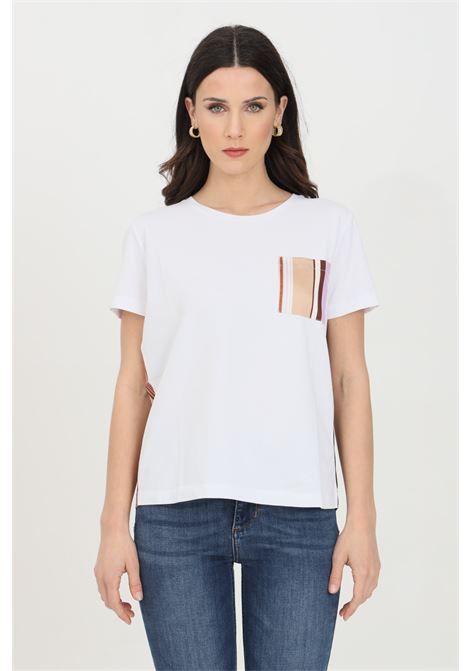 T-shirt in doppio tessuto con taschino sul fronte LIU JO | T-shirt | WA1482J5972T9743