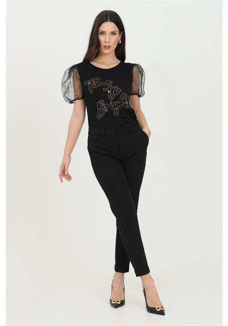 Black trousers with side zip closure, skinny model. Liu jo LIU JO | Pants | WXX046T789622222