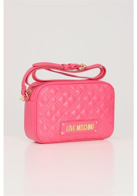 Fuchsia women's bag with shoulder strap love moschino LOVE MOSCHINO   Bag   JC4010PP1C-LA0604