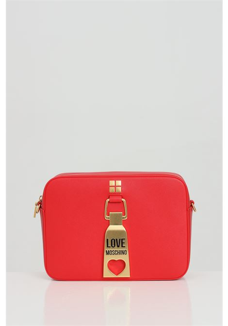 Red bag with removable shoulder strap and metal logo on the front. Love moschino LOVE MOSCHINO   Bag   JC4086PP1C-LN0500