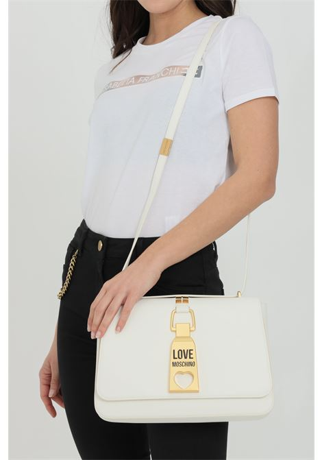 Borsa donna bianco love moschino con tracolla in pelle e chiusura con magnete LOVE MOSCHINO | Borse | JC4091PP1C-LN0100