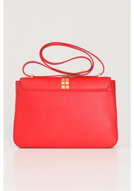 Red women's bag with shoulder strap and gold padlock application on the front love moschino LOVE MOSCHINO   Bag   JC4091PP1C-LN0500