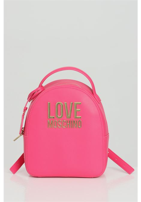 Pink backpack with steel logo on the front and zip closure. Adjustable shoulder straps and handle. Love moschino LOVE MOSCHINO | Backpack | JC4101PP1C-LJ060A